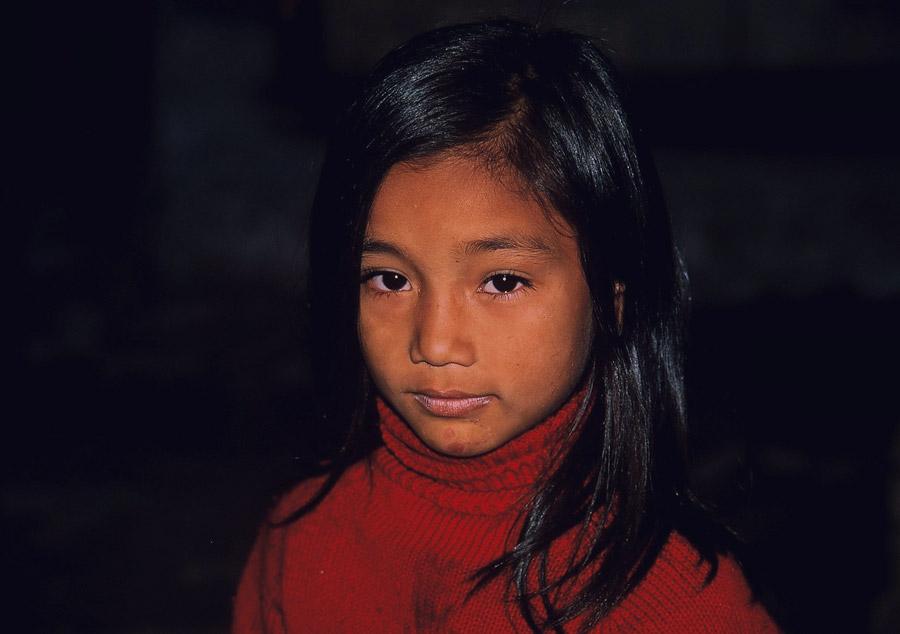 ネパール人の少女