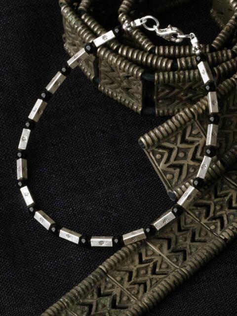 カレン族シルバーブレスレット/ブラックオニキス #a06-48