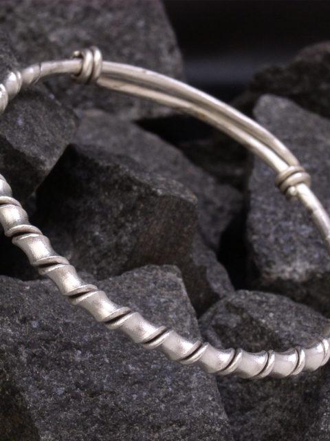 カレンシルバー バングル 螺旋型 a08-57