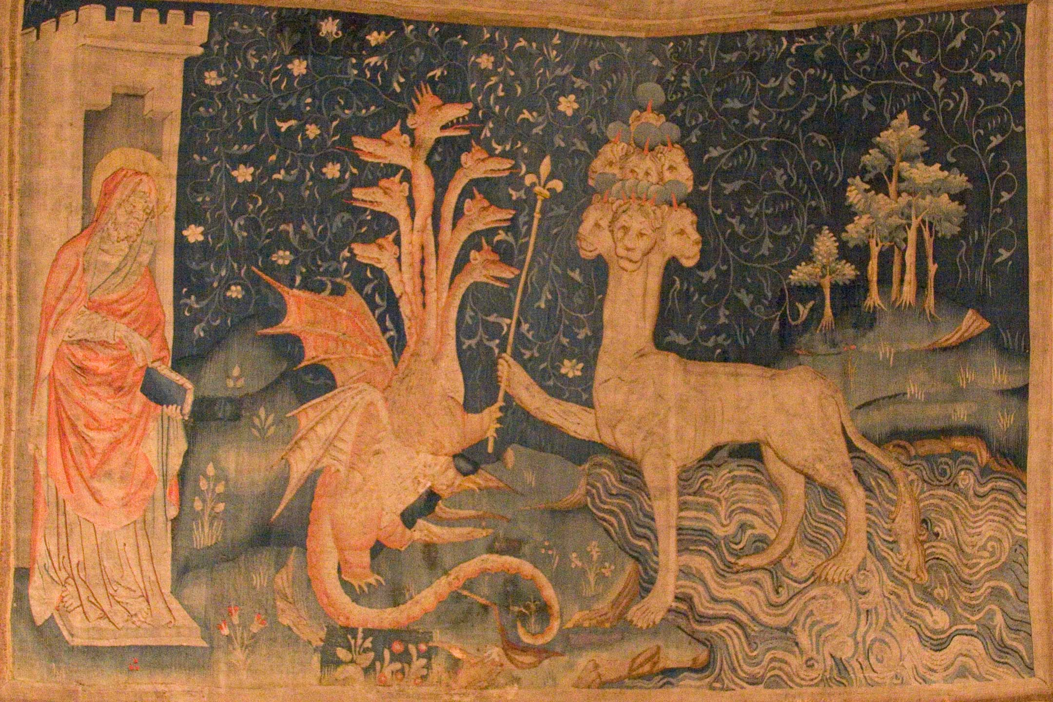 黙示録の獣、赤い龍 / The Beast of the Sea (Tapestry of the Apocalypse) - Wikipediaより