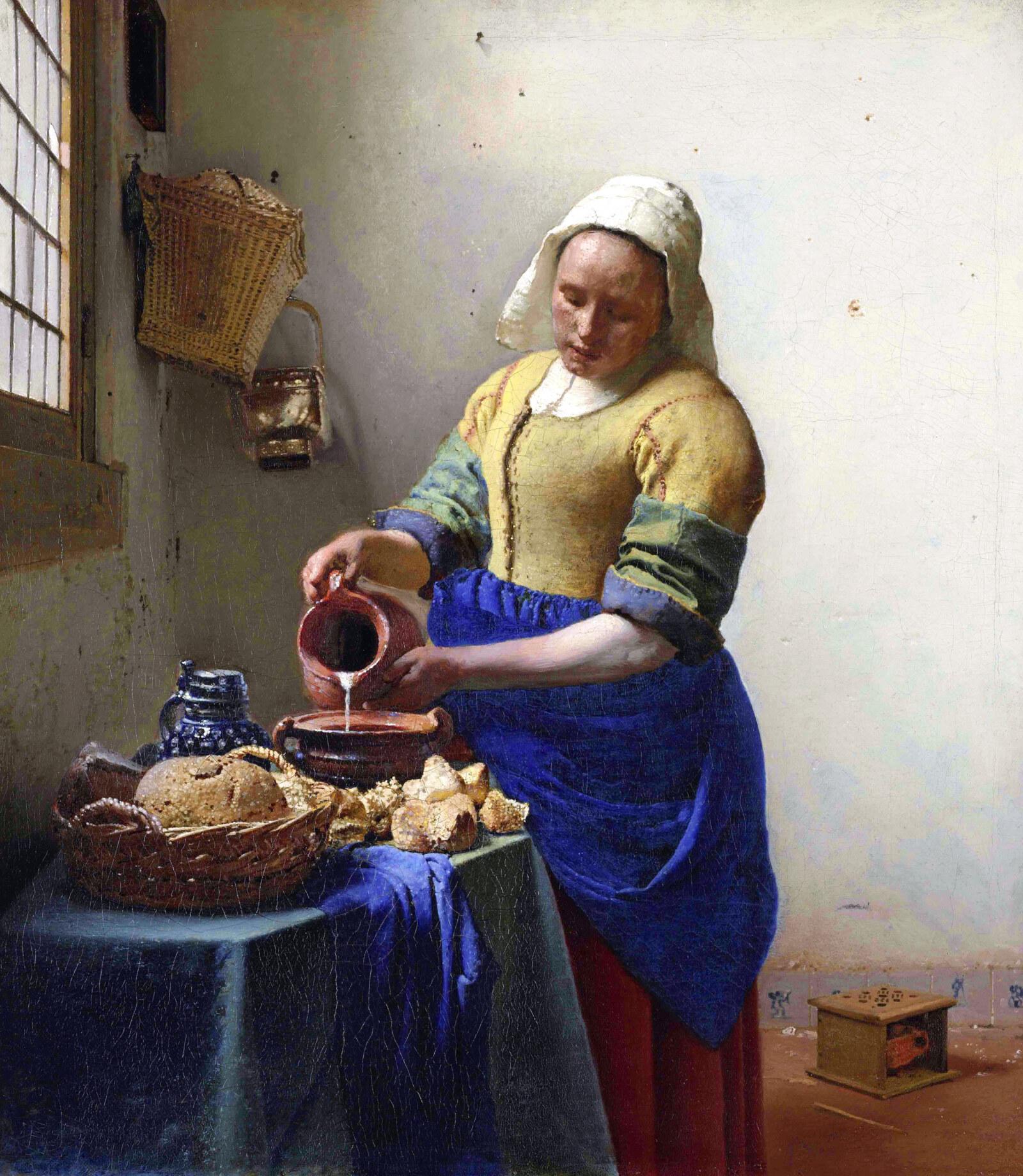 牛乳を注ぐ女 - ヨハネス・フェルメール